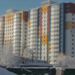 Отделка фасада многоэтажного жилого дома