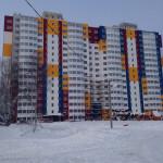 Отделка фасада многоквартирного жилого дома